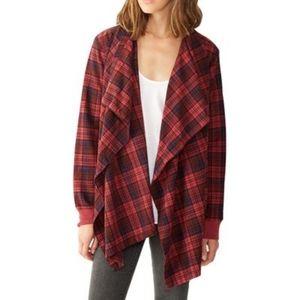 Alternative Apparel Cotton Flannel Wrap Cardigan